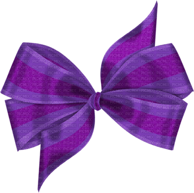Purple bow clipart