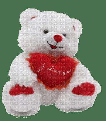 Nounours avec un coeur y love you picmix - Coeur nounours ...