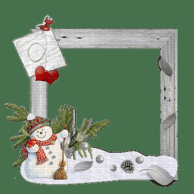 Noel cadre deco bonhomme de neige snowmaqn frame picmix - Decoration de noel bonhomme de neige ...