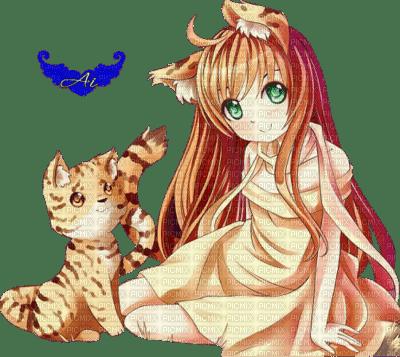 Fille tigre manga f lin orange chat picmix - Femme chat manga ...