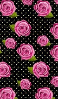 image encre couleur cadre roses fleurs effet à pois printemps  edited by me