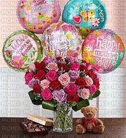 image encre fleurs des ballons bouquet