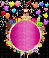image encre gâteau pâtisserie bonbons bon anniversaire ballons candi edited by me