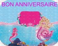 image encre couleur effethippocampe sirène cadre bon anniversaire  edited by me