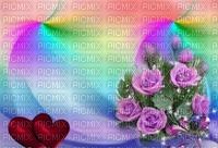 image encre couleur effet cadre bon anniversaire fleurs roses mariage coeur arc en ciel edited by me