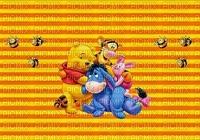 image encre couleur effet bon anniversaire Eeyore Pooh Tiger Disney edited  by me