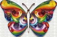 butterfly rainbow colors art