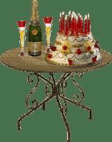 champagne-happy Birthday-joyeux anniversaire-cake-gâteau-BlueDREAM70
