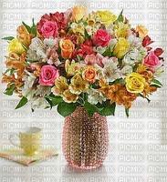 image encre animé fleurs félicitations
