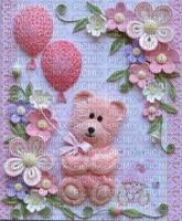 image fleurs teddy bebe