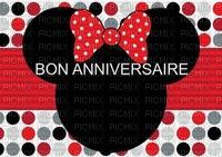 image encre couleur  anniversaire effet à pois Minnie Disney  edited by me