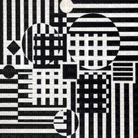 Optical Black White colors art