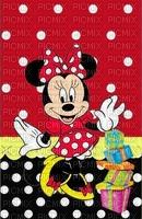 image encre couleur cadeaux anniversaire effet à pois Minnie Disney  edited by me
