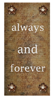 Kaz_Creations Deco Always and Forever  Sign Notice