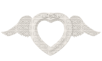 Kaz_Creations White Deco Colours Hearts Love Valentines Heart Frames Frame Wings