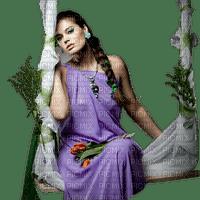 Kaz_Creations Woman Femme Flowers Swing