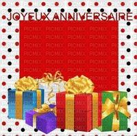 multicolore image encre color violet vert bleu  effet à pois joyeux anniversaire cadeaux  edited by me