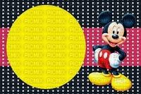 image encre couleur anniversaire effet à pois Mickey Disney dessin  edited by me