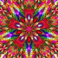 multicolore art image rose bleu jaune rouge effet kaléidoscope kaleidoscope multicolored color encre