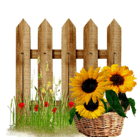 Kaz_Creations Garden Fence Gate Flowers Deco