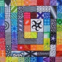 multicolore art image rose bleu jaune noir black effet kaléidoscope kaleidoscope multicolored color