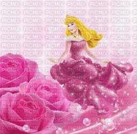 image encre bon anniversaire color effet fleurs princesse Disney  edited by me