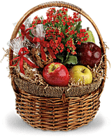 Kaz_Creations  Flowers  Basket Fruit Nuts