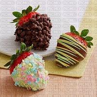 image encre happy birthday fraises blanc rose deco