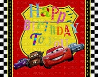 image encre happy birthday cars Disney edited by me