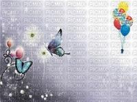 image encre la nature ballons bon anniversaire fleurs papillon edited by me