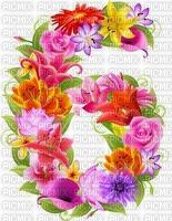 image encre numéro 6 fleurs bon anniversaire edited by me