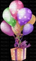 image encre color effet à pois ballons cadeau anniversaire edited by me