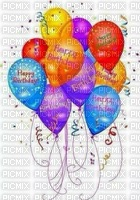 multicolored image ink happy birthday balloons edited by me