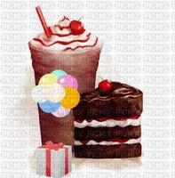 image encre gâteau bon anniversaire