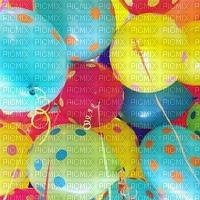 image encre couleur  anniversaire effet à pois ballons  edited by me