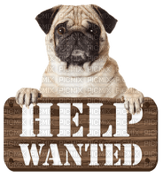 Kaz_Creations Dog Pup Dogs 🐶Text Logo Help Wanted Sign