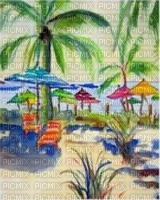 image encre landscape palm tree edited by me