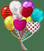 image encre effet néon deco coeur ballons bon anniversaire Saint-Valentin edited by me