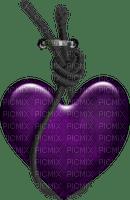 cœur violet.