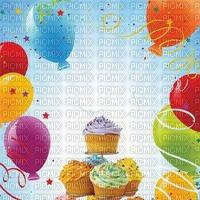 image encre gâteau pâtisserie bon anniversaire ballons glace bonbons edited by me