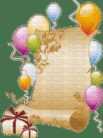 multicolore image encre couleur effet ballons cadre cadeaux bon anniversaire parchemin pastel  edited by me