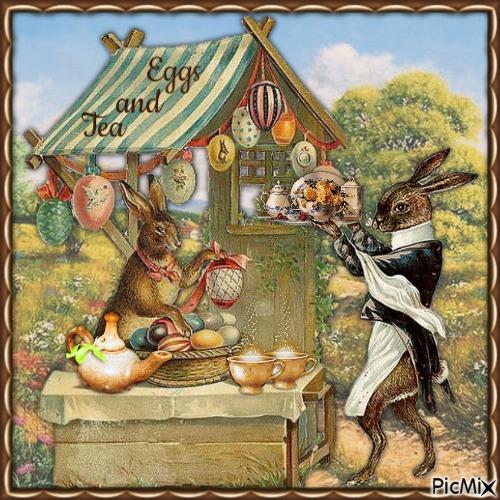 Tee bei Kaninchen