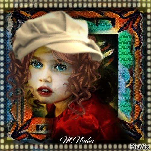 portrait fillette style gavroche,,