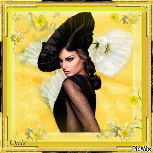 Portrait noir et jaune