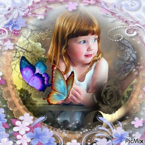 my litlle butterfly girl