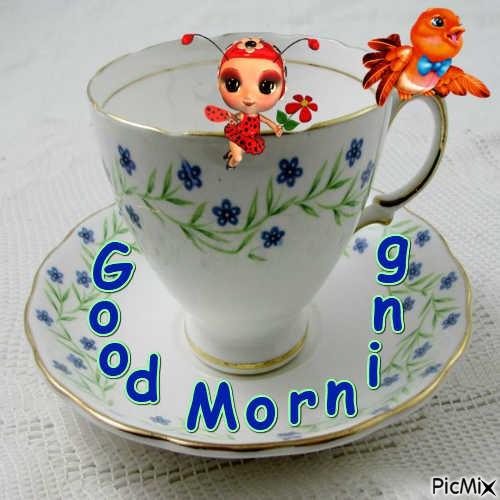 good morning,lady bug and bird
