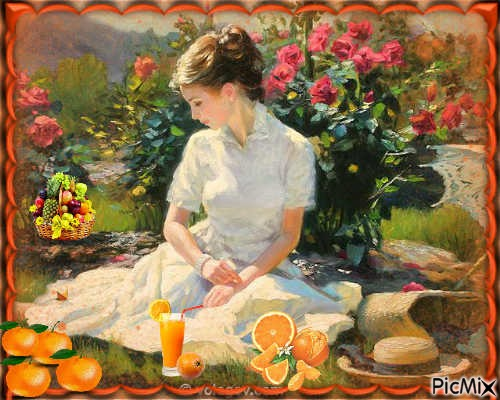 Femme et Oranges
