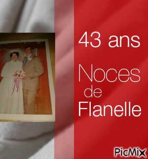 43 ans Noces de Flanelle