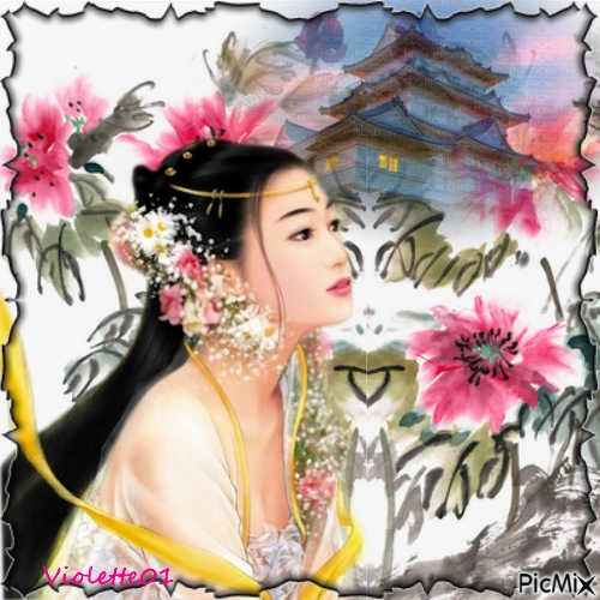 Belle asiatique .