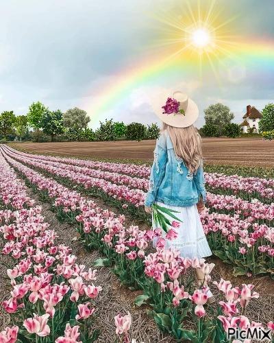 In A Field Of Tulips